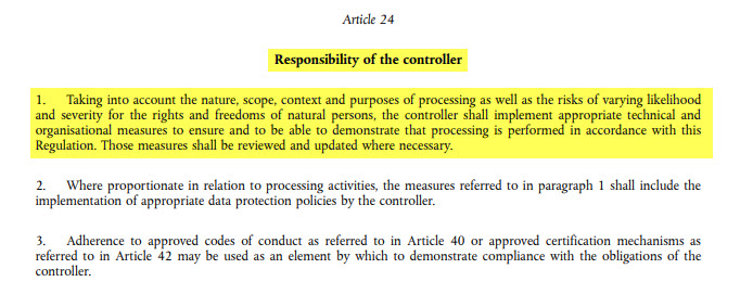 GDPR - Article24