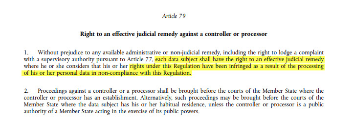 GDPR - Article 79